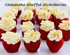 This is an fantastic dessert recipes if you love cheesecake with fresh strawberries and low calories. Each berry bite has on only 60 calories!