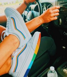 Good for the summer- like the rainbow, don't forget under the shoe too Vans Classic Slip On