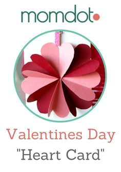 DIY Valentines Day Heart Card Tutorial, Make a Beautiful Flower card made of hearts . Step by Step with full pictures