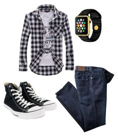 """""""Teenage Boy's outfit"""" by mimi-minecrafter ❤ liked on Polyvore featuring Converse, men's fashion and menswear"""