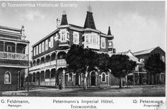 Petermann's Imperial Hotel,Toowoomba,Queensland (year unknown).A♥W Imperial Hotel, Empire Style, Vietnam, Past, Australia, Explore, Mansions, History, House Styles