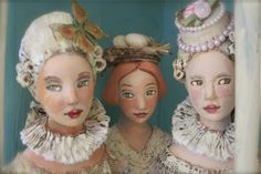 amazing art doll busts by Nancy Wiley...they send me!
