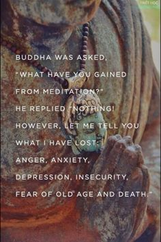 "focusedongrowing.blogspot.ca:  #213  Buddha was asked, ""What have you gained fro..."