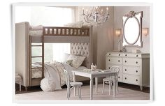 Rooms | Restoration Hardware Baby & Child.  Bunk option but question longevity for ageless room.