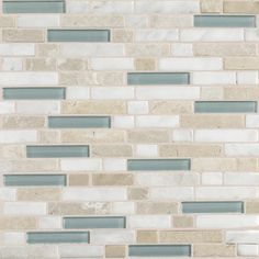 """Daltile Stone Radiance 12"""" x 12"""" Random Mosaic Tile Blend in Whisper Green (10 Pieces)"""