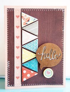 Close Knit *New Crate Paper* Hello card by Katie Ehmann