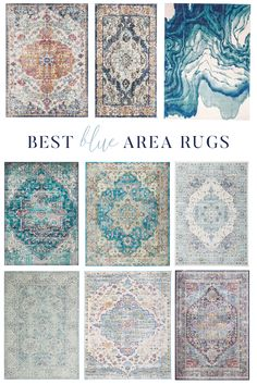 Since I could only add one blue carpet to my bedroom, today I share all of the carpets that I considered for ordering our Coastal Farmhouse Master Bedroom! Farmhouse Area Rugs, Modern Farmhouse Living Room Decor, Coastal Farmhouse, Farmhouse Style, Coastal Living, Farmhouse Decor, Aqua Area Rug, Light Blue Area Rug, Beautiful Room Designs