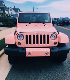 ☆ whats your dream car? mine is a JEEP like the - vsco. Dream Cars, My Dream Car, Fancy Cars, Cute Cars, Jeep Rose, Jeep Carros, Subaru, Nissan, Pink Jeep