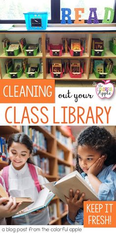 If you are anything like me, you love stocking your classroom bookshelves full of books for your students to explore. But, what about cleaning out your library? Hold up. We should be taking books… 7th Grade Classroom, Kindergarten Teachers, New Teachers, Elementary Teacher, Teachers Toolbox, Preschool Classroom, Elementary Education, Teaching Kids, Library Organization