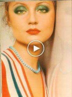 Hübsches 70er Make-up auf Ingrid Boulting. Lieben Sie dieses smaragdgrüne mit ihrer Augenfarbe Pretty Makeup, Love Makeup, Simple Makeup, Makeup Ideas, 1970s Makeup, Thin Eyeliner, Everyday Make Up, Ingrid, Layered Bob Hairstyles