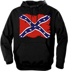 Southern Sisters Designs - Distressed Rebel Flag Hoodie, $25.95 (http://www.southernsistersdesigns.com/distressed-rebel-flag-hoodie/)