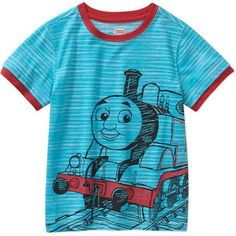 Not sure if this comes in his size but it's different looking for a Thomas Train shirt. Thomas The Train Baby Toddler Boy Graphic Tee Shirt - Walmart.com