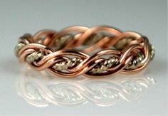 Rose Gold Unique Wedding Ring by Artist Todd Alan- Tina I think you should try this!