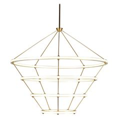 Four-Ring Halo Chandelier | See more antique and modern Chandeliers and Pendants  at http://www.1stdibs.com/furniture/lighting/chandeliers-pendant-lights
