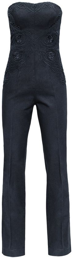 Gorgeous bustier jumpsuit with applique. H&M Conscious Collection