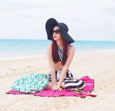 Soak Swimwear X Camille Co Bikini Top, Diane Von Furstenberg Bag