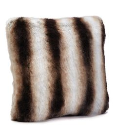 Chinchilla Faux Fur Limited Edition Throw Pillow #zulily #zulilyfinds