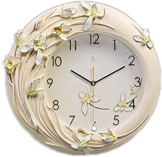 MAMASAM Space heater Modern Decorative Wall Clock Stereoscopic Emboss Art Mute Creative Quartz Clock Suitable for Home Living Room Bedroom Cafe Kitchen,Blue Clock Craft, Wood Carving Designs, Kids Study, Digital Wall, Living Room Bedroom, Diy Wall, Home And Living, Quartz, Wall Clocks
