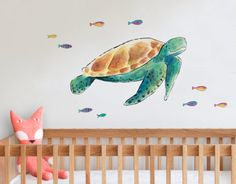 henry the turtle Raewyn Pope Artist Wall Decals New Zealand Your Decal Shop Wall Decal