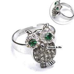 (free Size Can Be Adjust) Argent Lovely Owl Ring General. Small and catchy. REPIN if you like it. Only 75 IDR