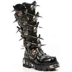 - New Rock Australia Emo Outfits, Grunge Outfits, Cow Leather, Leather Boots, Cute Shoes, Me Too Shoes, Alternative Fashion Indie, New Rock Boots, Gothic Shoes