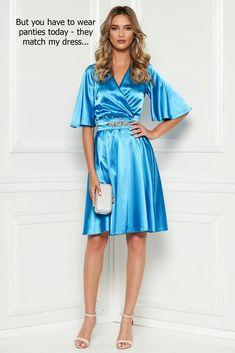 Satin Midi Dress, Satin Dresses, Elegant Dresses, Blue Dresses, Beautiful Dresses, Gowns, Full Midi Skirt, Dress Skirt, Satin Material