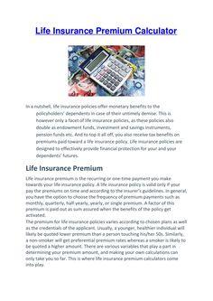Life Insurance Premium, Pension Fund, Investing