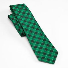 Croft & Barrow® Checker Plaid Tie - Men