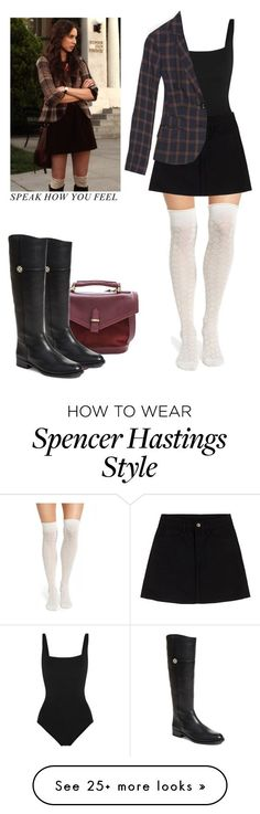 """Spencer Hastings - pll / pretty little liars"" by shadyannon on Polyvore featuring Eres, Madewell, Chelsea28 and Tory Burch"