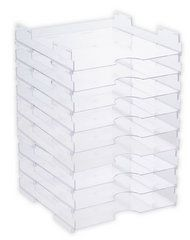 Display Dynamics - Perfect Paper Stackable Paper Trays - 12 x 12 - FIT in Ikea Expedit shelving..... have to get these