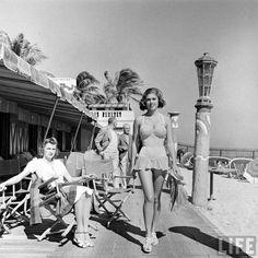 [1940s. Miami Beach fashion. By photographer Alfred Eisenstaedt