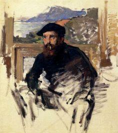 Self Portrait in his Atelier - Claude Monet