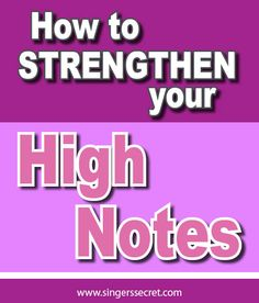 Super tips to help you sing stronger high notes. singerssecret.com... #singingtips #singing #howtosing