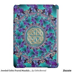 Jeweled Celtic Fractal #Mandala #iPad Air Case  #zazzle  #Celtic