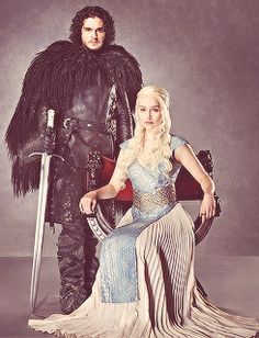This what I would like to see in upcoming seasons; Danerys on the iron throne and Jon Snow as king of the north.