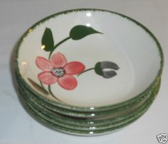 Blue Ridge Southern Pottery Fruit Dessert Sauce Bowls Pinkie Set of 5 | eBay