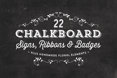 Chalkboard Signs, Ribbons & Badges - Objects - 1