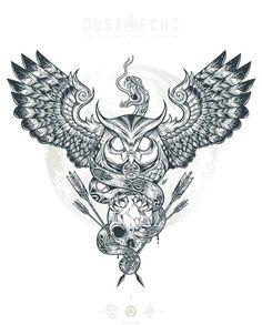 Tattoo Finka Owl baykuş