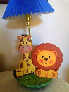 Lámpara Jirafa y León