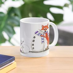 'Fox playing In The Snow' Mug by PounceBoxArt Cute Mugs, Mug Designs, My Arts, Fox, Iphone Cases, Art Prints, Printed, Tableware, Awesome