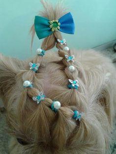 -Repinned-Top knot razzle dazzle. Pretty!