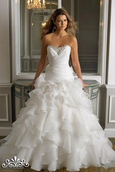 Dresses, Bridal Fall Strapless Gown Drop Waist Organza Fit And Flare Style J Wedding Dresses: Moonlight Fall 2012 Wedding Dresses Collection...
