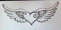 Heart with wings tattoo Cute Tattoos, Body Art Tattoos, Tatoos, Drawings For Him, Drawing Pics, Angel Wings Drawing, Dream Catcher Drawing, Heart With Wings Tattoo, Cute Patterns Wallpaper