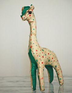 giraffe vintage stuffed toy by littlepart on Etsy, $25.00