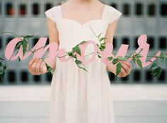 Will You Be My Flower Girl? on Style Me Pretty. Flowers/Styling: The Southern Table Event Signage, Event Branding, 2016 Wedding Trends, Lesbian Wedding, Bridesmaid Dresses, Wedding Dresses, Custom Invitations, Wedding Blog, Wedding Decor