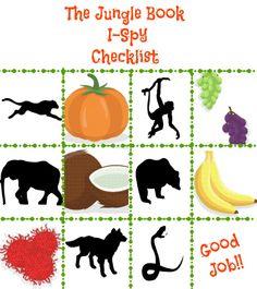 Jungle Book I Spy Checklist for a Jungle Themed Party! #JungleFresh #CollectiveBias #shop