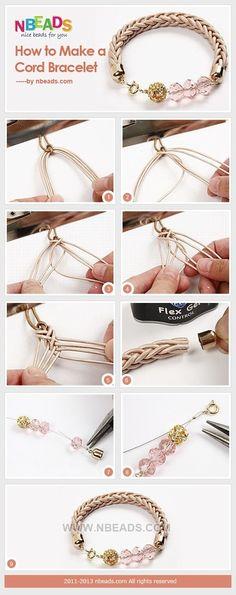 cord bracelet DIY编织串珠手链