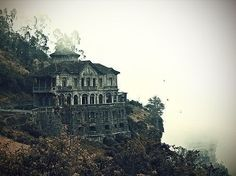 """""""The Haunted Hotel"""" at Tequendama Falls, Columbia. Hotel del Salto, now abandoned."""