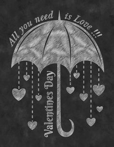 This piece of art features Chalkboard Kitchen Art is crafted for years of enjoyment. A custom made, unique Kitchen Chalkboard Love Umbrella