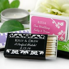 Personalized Wedding Matchboxes by Beau-coup  Wedding favor! So cheap!